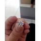 Позолоченные бронзовые серьги Циркон Стад ERZ0269