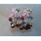 Stud Earrings Alloy Simulated Diamond Pink Jewelry Party Daily Casual
