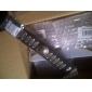 [Cybermondaysale] Mlle Rose® 25cm punk en cuir noir avec des hommes bracelet en or alliage de id (1 pc)