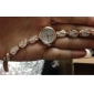 Женские Модные часы Часы-браслет Кварцевый сплав Группа Листья Элегантные часы Белый Розовый