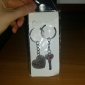 Hearts Shape Lovers Stainless Keychains Novelty Toys(2pcs)
