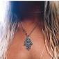 Femme Pendentif de collier Main de Fatma Alliage Européen bijoux de fantaisie Mode Simple Style Bijoux Pour Soirée Quotidien Décontracté