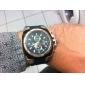 Herren Beobachten Japanischer Quartz Militäruhr Caucho Band Armbanduhr