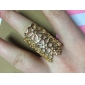 European And American Style Retro Hollow Carved Flower Ring Ring Opening Mysterious Lace R765 R766