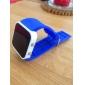 ซิลิโคนวงผู้ชายผู้หญิง unisex วุ้นสไตล์กระจกกีฬาตารางนำนาฬิกาข้อมือสีฟ้า -