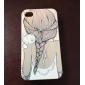 gatos e caso difícil menina de volta padrão&caneta de toque para iPhone 4 / 4S