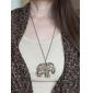 Lureme®Vintage Hollow Elephant Pendant Necklace
