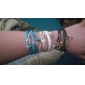 Eruner®Leather Bracelets Multilayer Alloy Love and Cat Charms infinite Handmade Bra