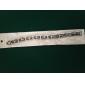 Персональный подарок Мужские украшения из нержавеющей стали и силикона выгравированы ID Браслеты 1.2cm Ширина