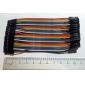 fio fêmea para fêmea cabo 41p-41p conector teste de linha de linhas (10cm)