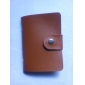 Стильный органайзер из искусственной кожи для кредитных карт (24-Pocket кофе)
