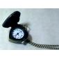 Mulheres Homens Unisexo Relógio de Moda Colar com Relógio Quartzo Banda Vintage Heart Shape Bronze
