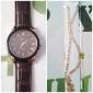 Unisex PU Analog Quartz Wrist Watch (Brown Band)