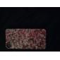 아이폰 4/4S를위한 빨간 장미 무늬 알루미늄 하드 케이스