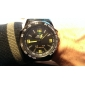 WEIDE® Men's Watch Dress Watch Multi-Function Dual Time Zones Black Steel Water Resistant