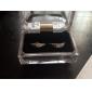Sweet Couple Silver Rhinestone Couple Rings(1 Pair)