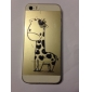 Cartoon Style Lovely Giraffe Pattern Transparent TPU Soft Case for iPhone 5/5S