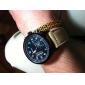 남성 밀리터리 시계 석영 일본 쿼츠 가죽 밴드 브라운 카키