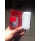 Твердые цвета PU Полный Дело Корпус с картой и фото Слот для iPhone 4/4S (разных цветов)