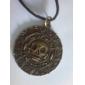 старинный круглый череп форма мужской кулон ожерелье (1 шт)
