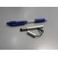 rustfritt berøringsskjerm pekepennen penn med anti-støv plugg for iPad, iPhone, iPod touch, xoomand playbook (sølv)