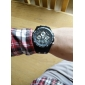 Men's Watch Military Water Resistant Dual Time Zones Multi-Function