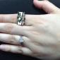 반지 일상 / 캐쥬얼 보석류 구리 여성 문자 반지 골든