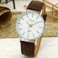 Unisex'S Simple Dial Quartz Analog Pu Leather Band Wrist Watch Cool Watch Unique Watch