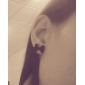 Earring Stud Earrings Jewelry Wedding / Party / Daily / Casual Alloy Black