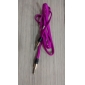 Noodle Style Weave Line Audio Jack Connection Cable(Purple 1.01m)