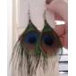 Femme Boucles d'oreille goutte Style Folk bijoux de fantaisie Bohême Mode Plume Tissu Alliage Plume Paon Bijoux Pour Soirée