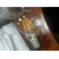 E26/E27 LED лампы накаливания G60 6 COB 450 lm Тёплый белый Декоративная AC 220-240 V