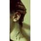 Korean fashion personality fringed triangular cone earrings (random color)