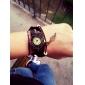 Relógio de Pulso Analógico Feminino com Pulseira de Couro com Folhas (Cores Variadas)