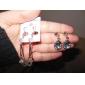 Brincos Compridos Elegant Moda Jóias de Luxo Europeu Gema imitação de diamante Liga Caído Jóias Para Diário
