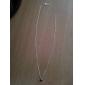 Европейский серебро маленькая звезда крошечный кулон ожерелье (1 шт)