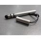 roestvrij touchscreen stylus pen met anti-stof-plug voor ipad, iphone, ipod touch, xoomand playbook (zilver)
