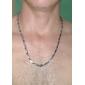Ожерелья-цепочки Нержавеющая сталь Титановая сталь Бижутерия Уникальный дизайн Мода Серебряный БижутерияСвадьба Для вечеринок