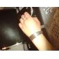 lureme®silver banhado esculpir fio bracelete