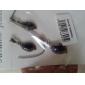 Parure di collana e orecchini con gemma colorata