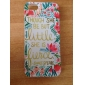 The Surrounding Color Flower Pattern PU Leather Full Body Case with Card Slot and Stand for iPhone 5/5S