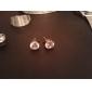 Brincos Curtos Cristal Liga Prata Jóias Para Diário