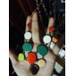 мода многоцветный круглая форма кулон ожерелье (1 шт)
