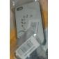 iPhone 4/4S를위한 투명한 순수한 백색 TPU 소프트 케이스