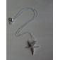 Silver Starfish Pendant with Rhinestone (Pendant Only) Mermaid