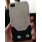 Little Black Kitty Pattern Hard Case for iPhone4/4S