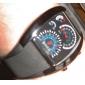 Hommes Montre Bracelet Numérique LED Calendrier Caoutchouc Bande Noir Noir Orange Bleu de minuit Marron Bleu clair