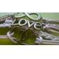 Mulheres Rebite Pulseiras de couro Básico Amor Coração Moda Confeccionada à Mão Pele Formato de Coração Amor Infinidade Café Jóias Para
