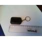 3-LED White Light Solar Powered Self-Recharge Flashlight Keychain -Black