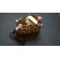 bolsa estampa de leopardo mudança cubóide (cor aleatória)